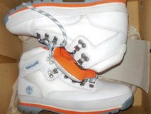 Orange, White and Blue Timberland Men's size 8 or Women's size 10 in Fairfax, Virginia