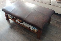 Pottery Barn Leather Ottoman in Wilmington, North Carolina