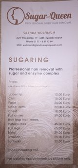 Professional Hair Removal with sugar and enzyme complex in Ramstein, Germany