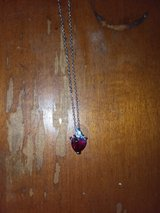 Sterling silver heart necklace in Camp Lejeune, North Carolina
