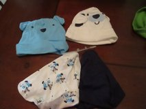 4 NEW GERBER BABY 0-6 MONTHS BOYS HATS in Cleveland, Texas