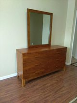 Solid Wood Dresser With Mirror in Kissimmee, Florida