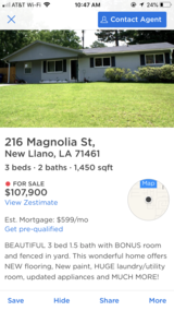 PRICE REDUCED Beautiful house for sale! in Leesville, Louisiana