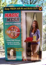 """Magic Mesh """"Instant"""" Screen Door - As See On TV in Alamogordo, New Mexico"""