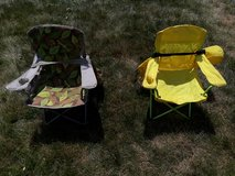 Two kids camp chairs in Naperville, Illinois