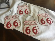 4 New Metal Route 66 Signs in Naperville, Illinois