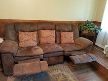 Lane Flexsteel Sofa with recliners in Warner Robins, Georgia