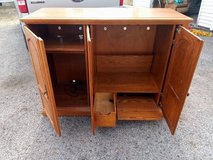 Solid wood entertainment center in Westmont, Illinois