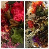 Faux flowers, all for $5 in Morris, Illinois