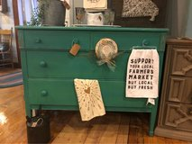 teal dresser- solid wood in Fort Leonard Wood, Missouri