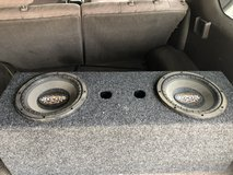 Subwoofer and amp in 29 Palms, California