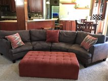 Microfiber chocolate colored couch in Naperville, Illinois