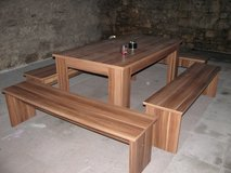 Table and Benches in Grafenwoehr, GE