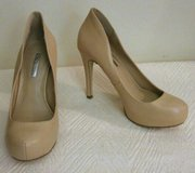 """BCBGeneration"" Taupe Tan Leather High Heeled Pumps in Fort Bragg, North Carolina"