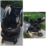 Britax B-Agile/B-Safe 35 Infant Car Seat &Travel System Stroller-Excellent Condition in Beaufort, South Carolina