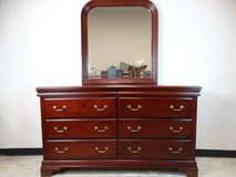 Traditional Dresser with Bevelled Mirror in Pearland, Texas