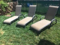 3 Room Essentials stack sling lounge/chaise chairs in San Clemente, California
