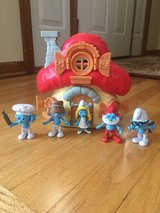 Smurf Village House & Characters in Lockport, Illinois