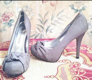 "Charlotte Russe"" Gray Fabric High Heeled Pumps in Fort Bragg, North Carolina"