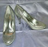 Bamboo Silver Sequin Sparkle Heeled Pumps in Fort Bragg, North Carolina