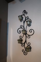 Heavy Wrought SIron Candle Wall Art in Camp Lejeune, North Carolina