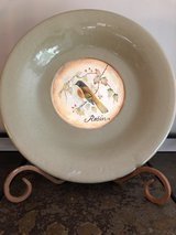 Decorative plate and stand in Oswego, Illinois