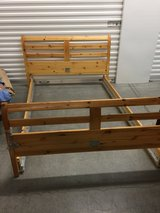 Ikea oak framed bed full size in Luke AFB, Arizona