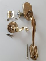 Brass Kwikset door handle, no key lock in San Antonio, Texas