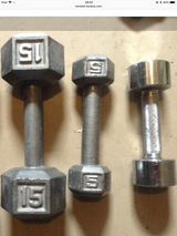 Metal hand weights(singles) in Ramstein, Germany
