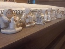 7pc Vintage ceramic world snow angel figurines in Fort Campbell, Kentucky