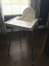 Ikea high chair with tray in Sandwich, Illinois