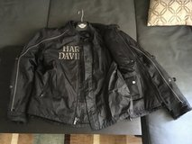 HARLEY-DAVIDSON--ALL WEATHER TEXTILE  (3-layer) MENS RIDING JACKET LARGE in Travis AFB, California