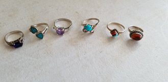 Sterling silver ring lot of 6 in Alamogordo, New Mexico