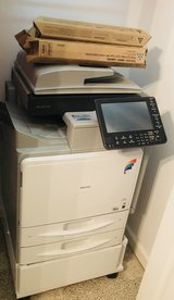 Aficio mp c300SR copier Ricoh with additional CMYK toners. Works great!! in Beaufort, South Carolina
