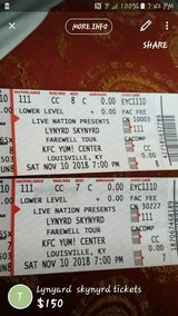 lynyard skynyrd  fairwell tour tickets in Fort Knox, Kentucky