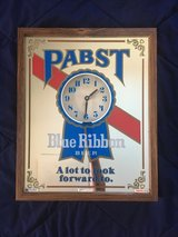 Pabst Blue Ribbon Mirror Clock in Schaumburg, Illinois