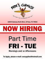 MAINTENANCE AT CAR WASH / PART TIME in Fort Bliss, Texas