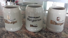 3 Beer mugs/ 27 Bitburger beer glasses in Spangdahlem, Germany