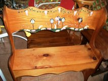 Decorative Wood Bench in Alamogordo, New Mexico