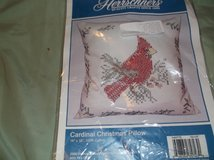 cardinal stamped cross stitch pillow cover in Alamogordo, New Mexico