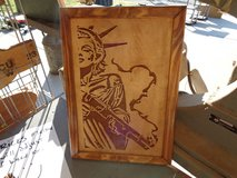 Scroll saw art in Fort Riley, Kansas