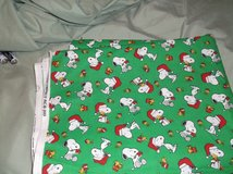 snoopy green christmas fabric in Alamogordo, New Mexico