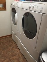 Electric Washer and Dryer with Storage Bins in Naperville, Illinois