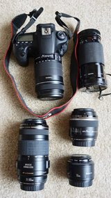 Canon 60D camera set in Fairfield, California