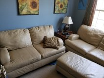 Couch set 3 leather pieces in Batavia, Illinois