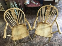 Two Wood Wheel backed Chairs in Fort Polk, Louisiana