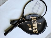Prince Pro Series 110 Tennis Racquet with Cover - Grip 4 1/2 - VG Condition in Aurora, Illinois