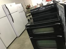 Black Maytag Gemini Double Oven Glass top Stove in Fort Leonard Wood, Missouri