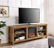 Walker Edison Electric Fireplace TV Stand (Barnwood) - DISPLAY MODEL! in Joliet, Illinois