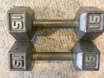 Barbells 2 x 15 pounds in Ramstein, Germany